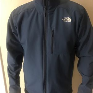 New Men blue the north face apex bionic soft shell